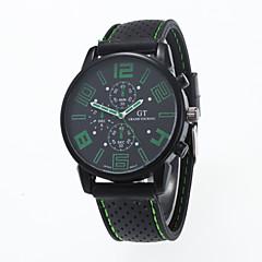 Herren / Damen / Unisex Modeuhr Quartz Silikon Band Schwarz Marke-