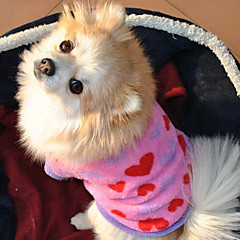 Perros Abrigos Rosado Invierno / Verano / Primavera/Otoño Clásico / Corazones San Valentín / Moda-Lovoyager