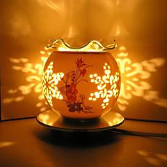 2016 uusi keraaminen ruusu induktio aromaterapiaa lamppu johti yövalo lapsille huoneen sisustuksessa