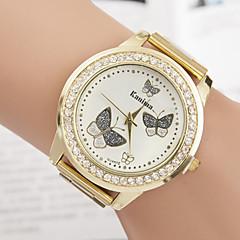 Dames Modieus horloge Kwarts imitatie Diamond Legering Band Vlinder Goud Merk