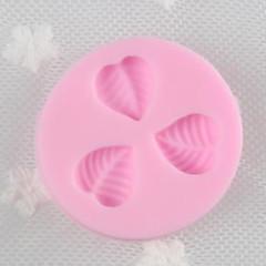Liść Liście trzy otwory Kremówka Formy silikonowe Mold Craft Cukier Narzędzia Żywica kwiaty form do ciast