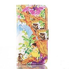 Tree PU Leather Wallet with Card Holder and Stand for Iphone 5 5s 5se 6 6S 6 Plus 6S Plus