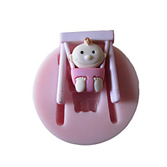 Baby Swing Silicone Mold Fondant Molds Sugar Craft Tools Chocolate Mould  For Cakes