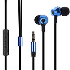 abingo ES700 metal ergonomische oordopjes stijl hoofdtelefoon met microfoon& afstandsbediening voor smartphone