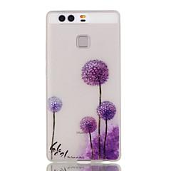Mert Huawei tok / P9 / P9 Lite / P8 Lite Foszforeszkáló Case Hátlap Case Pitypang Puha TPU HuaweiHuawei P9 / Huawei P9 Lite / Huawei P8