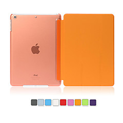 PU Leather Cover Hard Translucent  Wake Up Smart Case for iPad Air (Assorted Colors)