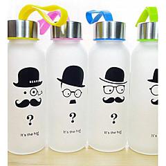 1szt oszczędny broda matowego szkła 300 ml sportowe otwarte butelki wody przenośne (random style)