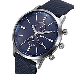 Hombre Reloj de Pulsera Cuarzo Piel Banda Negro / Blanco / Azul Marca-