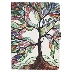 For Samsung Galaxy Case Card Holder / Wallet / with Stand / Flip / Pattern Case Full Body Case Tree PU Leather SamsungTab 4 8.0 / Tab 4