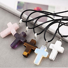 European  Cross Natural Stone Necklace Pendant Necklaces Daily / Casual 1pc