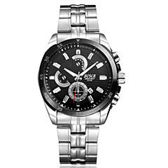 Heren Dress horloge Kwarts Japanse quartz Waterbestendig Roestvrij staal Band Zwart Wit Zwart