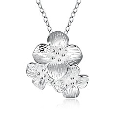 Silver Plated Necklace Pendant Necklaces Party / Daily / Casual 1pc