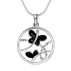 Modische Halsketten Anhängerketten Schmuck Party / Alltag / Normal versilbert Silber 1 Stück Geschenk