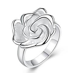 Ringen Feest / Dagelijks / Causaal Sieraden Verzilverd Dames Statementringen 1 stuks,7 / 8 Zilver