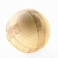 Fashion Wood Round Puzzle Unlock Loop Decompression Toys