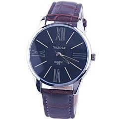 Men's Fashion Leather Brand Quartz Analog Wrist Watch(Assorted Colors)