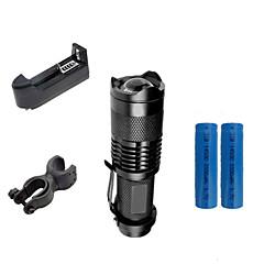 Φακοί LED Κλιπ και Βάσεις Φορτιστές LED 2000 Lumens 3 Τρόπος Cree XR-E Q5 14500 AA Ρυθμιζόμενη Εστίαση Ανθεκτικό στα Χτυπήματα Αδιάβροχη