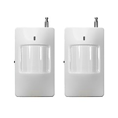 satıcı 15338 alarm sistemi ile uyumludur 2pcs / lot kızılötesi kablosuz pir sensör hareket dedektörü 433MHz