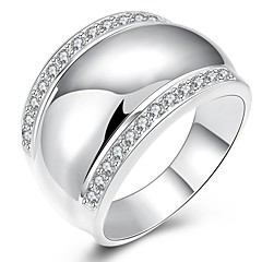 Silver Plated Ring Statement Rings Party / Daily / Casual 1pc