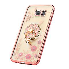 ylellinen peili pinnoitus kukkia elin suojakotelo Samsung Galaxy S7 reuna / S7 / S6 reuna g9200