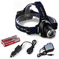 Verlichting Hoofdlampen LED 2000 Lumens 3 Mode Cree T6 18650Verstelbare focus / Oplaadbaar / Schokbestendig / Noodgeval / Super Light /