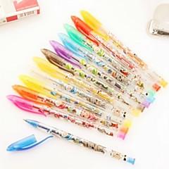 12PCS Flash Pen 12 Color Bag Creative Fluorescent Pen (Style random)