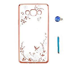 Για Στρας / Επιμεταλλωμένη / Διαφανής / Με σχέδια tok Πίσω Κάλυμμα tok Λουλούδι Σκληρή TPU Samsung A9 / A8 / A7 / A5