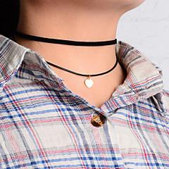 Modische Halsketten Anhängerketten / Layered Ketten Schmuck Hochzeit / Party / Alltag / Normal Modisch Baumwollflanell Schwarz 1 Stück