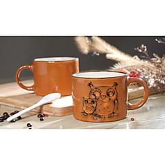 ζωγραφισμένα στο χέρι κεραμικά κούπα μεγάλες κούπες προσωπικότητα φλιτζάνι καφέ ρετρό εστιατόριο φλιτζάνι τσάι 300 ml