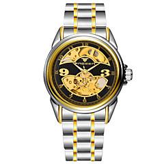Masculino Relógio Elegante Automático - da corda automáticamente Impermeável Lega Banda Relógio de Pulso Prata