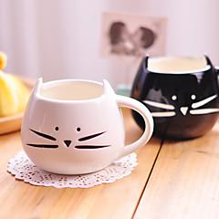 1pc 300ml χαριτωμένο μαύρο και άσπρο γάτα κεραμικό κύπελλο προσωπικότητα μόνο φλιτζάνι την αγροτική ερωτική συναισθήματα δώρα κύπελλο