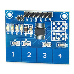 digitale ttp224 sensore tattile a 4 vie capacitivo modulo switch tocco per Arduino