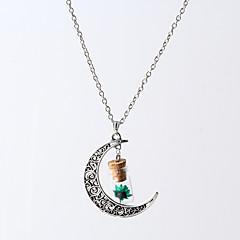 HUALUO®Fashion Jewelry Wishing bottle drift bottle half pentagram pendants large flowers dried flowers