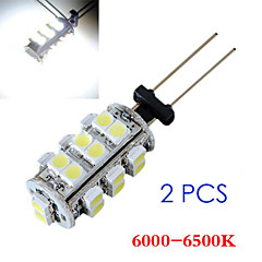 2 In 1 3528 G4 26 SMD White Light Car Bulb Lamp 6000-6500K(DC12V)