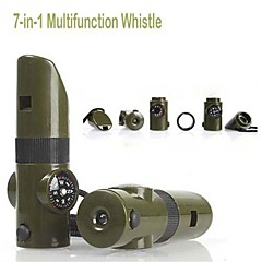 7in1 Survival Camping Whistle Compass Thermometer Flashlight