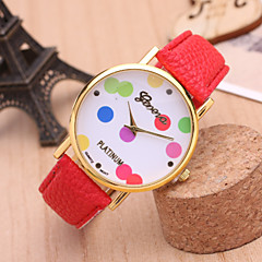 Women's Fashion Watch Colorful Balloons Classic Quartz Watch PU Belt Cool Watches Unique Watches