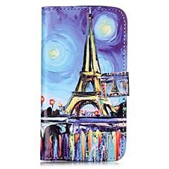 Varten Lomapkko Korttikotelo Tuella Flip Kuvio Magneetti Etui Kokonaan peittävä Etui Eiffelin torni Kova Tekonahka varten HuaweiLG K10 LG