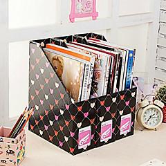 Desktop File Magazine Paper Storage Box Black Hearts Three Loaded