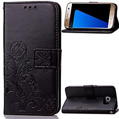Voor Samsung Galaxy Note Kaarthouder / Portemonnee / met standaard / Flip / Reliëfopdruk hoesje Volledige behuizing hoesje Bloem PU-leer