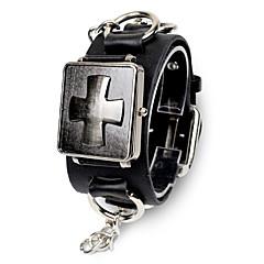Męskie Damskie Uniseks Modny Zegarek na bransoletce Kwarcowy Skóra Pasmo Czarny Brązowy Black Brown
