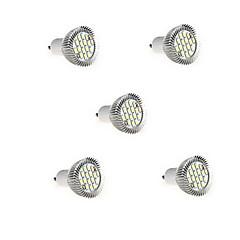5pcs 8w gu10 16xsmd5630 650lm chaude lumière blanche / froid led ampoule de projecteur de lumière (AC85-265V)