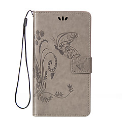 Butterfly Pattern Inside and Outside Printing the Card Holder Lanyard PU Leather Phone Case for Wiko Lenny 2