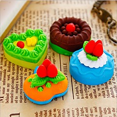Sweet Cake Design Eraser Rubber Eraser Primary School Student Prizes Gift Stationery,Set of 4