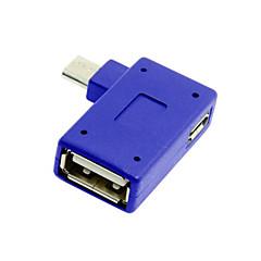 cwxuan® 90 asteen micro usb 2.0 OTG-sovittimen kanssa usb valtaa matkapuhelin tabletti