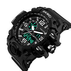 Masculino Relógio de Pulso Digital LED Silicone Banda Preta marca