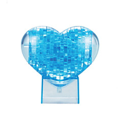Jigsaw Puzzles 3D Puzzles / Crystal Puzzles Building Blocks DIY Toys Heart-Shaped ABS Blue Model & Building Toy