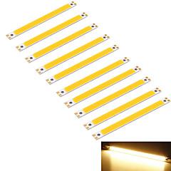 youoklight® 10stk 10w 950lm cob 1-ledede varm hvid 3000K rektangel strimler (dc 12 ~ 14V)