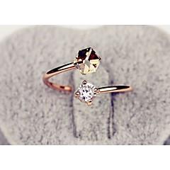 טבעות חתונה / Party / יומי / קזו'אל / ספורט תכשיטים סגסוגת נשים טבעות מידי 1pc,מתכוונן מוזהב