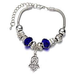 Fine Silver Beads Strands Bracelet Palm Pendants Jewelry for Lady(Legth:26cm)
