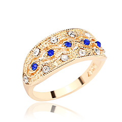 Women's Jewelry Inlaid Imitation Diamond With Rhinestone Ring Gift Idea Gold / Silver Plated